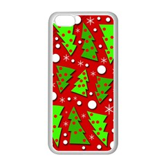 Twisted Christmas trees Apple iPhone 5C Seamless Case (White)