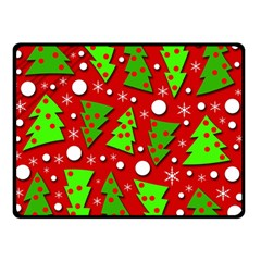 Twisted Christmas Trees Double Sided Fleece Blanket (small)