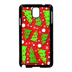 Twisted Christmas trees Samsung Galaxy Note 3 Neo Hardshell Case (Black)