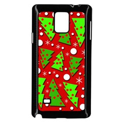 Twisted Christmas trees Samsung Galaxy Note 4 Case (Black)