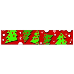 Twisted Christmas trees Flano Scarf (Small)