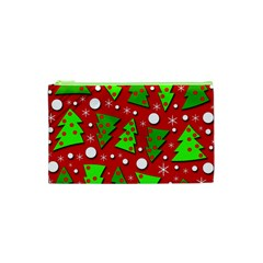 Twisted Christmas trees Cosmetic Bag (XS)