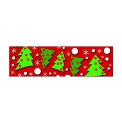 Twisted Christmas trees Satin Scarf (Oblong)