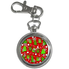 Christmas trees and gifts pattern Key Chain Watches