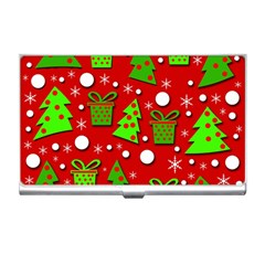 Christmas trees and gifts pattern Business Card Holders