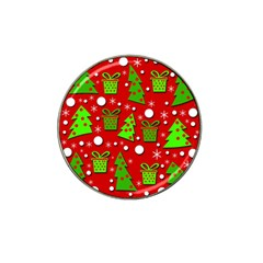 Christmas trees and gifts pattern Hat Clip Ball Marker