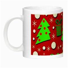 Christmas trees and gifts pattern Night Luminous Mugs