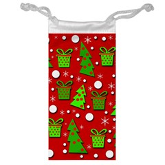 Christmas trees and gifts pattern Jewelry Bags