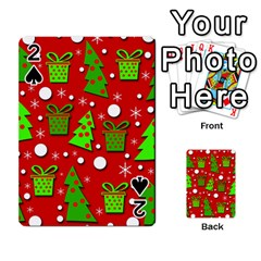 Christmas trees and gifts pattern Playing Cards 54 Designs