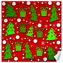 Christmas trees and gifts pattern Canvas 20  x 20
