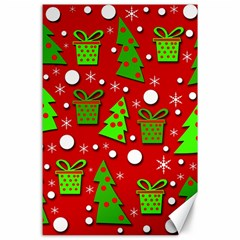 Christmas trees and gifts pattern Canvas 24  x 36