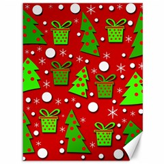 Christmas trees and gifts pattern Canvas 36  x 48