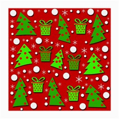 Christmas trees and gifts pattern Medium Glasses Cloth (2-Side)