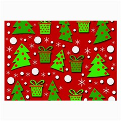 Christmas trees and gifts pattern Large Glasses Cloth