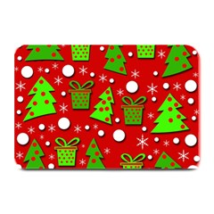 Christmas trees and gifts pattern Plate Mats