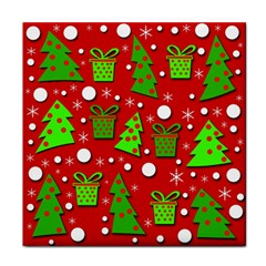 Christmas trees and gifts pattern Face Towel