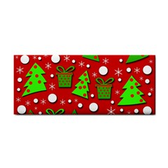 Christmas trees and gifts pattern Hand Towel