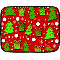 Christmas trees and gifts pattern Fleece Blanket (Mini)
