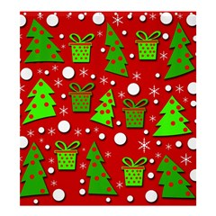 Christmas trees and gifts pattern Shower Curtain 66  x 72  (Large)