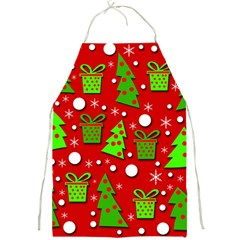 Christmas trees and gifts pattern Full Print Aprons