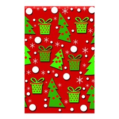 Christmas trees and gifts pattern Shower Curtain 48  x 72  (Small)