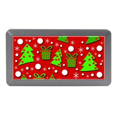 Christmas trees and gifts pattern Memory Card Reader (Mini)