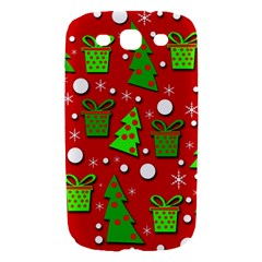 Christmas trees and gifts pattern Samsung Galaxy S III Hardshell Case