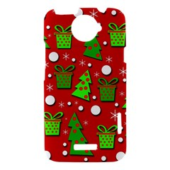 Christmas trees and gifts pattern HTC One X Hardshell Case