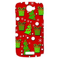 Christmas trees and gifts pattern HTC One S Hardshell Case