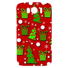 Christmas trees and gifts pattern HTC Sensation XL Hardshell Case
