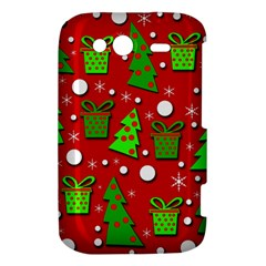 Christmas trees and gifts pattern HTC Wildfire S A510e Hardshell Case