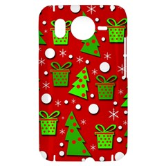 Christmas trees and gifts pattern HTC Desire HD Hardshell Case