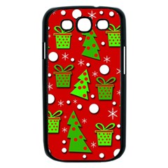 Christmas trees and gifts pattern Samsung Galaxy S III Case (Black)