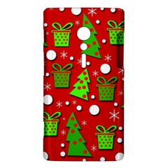 Christmas trees and gifts pattern Sony Xperia ion
