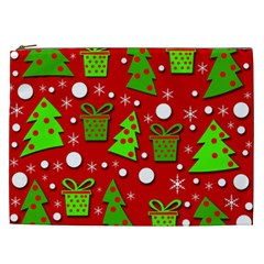 Christmas trees and gifts pattern Cosmetic Bag (XXL)