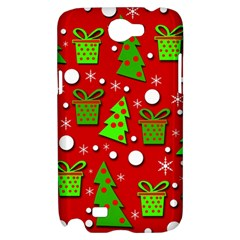 Christmas trees and gifts pattern Samsung Galaxy Note 2 Hardshell Case