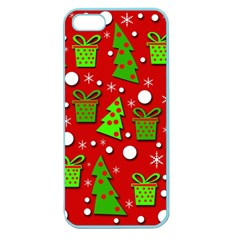 Christmas trees and gifts pattern Apple Seamless iPhone 5 Case (Color)