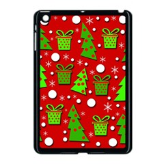 Christmas trees and gifts pattern Apple iPad Mini Case (Black)