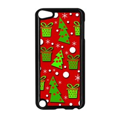 Christmas trees and gifts pattern Apple iPod Touch 5 Case (Black)