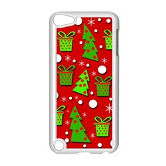 Christmas trees and gifts pattern Apple iPod Touch 5 Case (White)