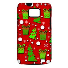 Christmas trees and gifts pattern Samsung Galaxy S II i9100 Hardshell Case (PC+Silicone)