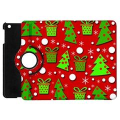 Christmas trees and gifts pattern Apple iPad Mini Flip 360 Case