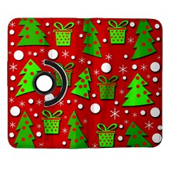 Christmas trees and gifts pattern Samsung Galaxy Note II Flip 360 Case