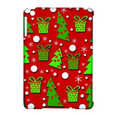 Christmas trees and gifts pattern Apple iPad Mini Hardshell Case (Compatible with Smart Cover)