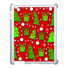 Christmas trees and gifts pattern Apple iPad 3/4 Case (White)
