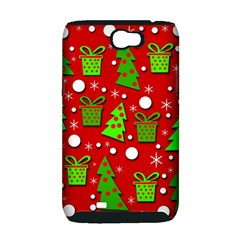 Christmas trees and gifts pattern Samsung Galaxy Note 2 Hardshell Case (PC+Silicone)