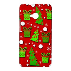 Christmas trees and gifts pattern HTC One M7 Hardshell Case
