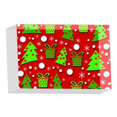 Christmas trees and gifts pattern 4 x 6  Acrylic Photo Blocks