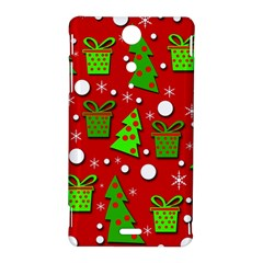 Christmas trees and gifts pattern Sony Xperia TX