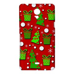Christmas trees and gifts pattern Sony Xperia T